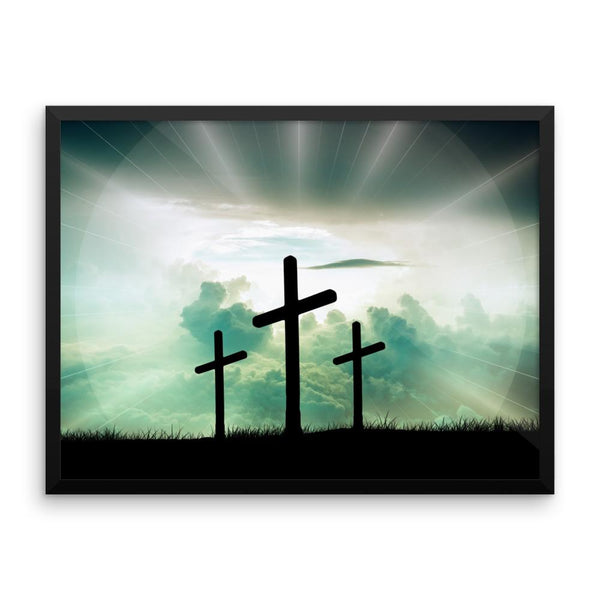 Cross Framed Photo Poster Wall Art Decoration Decor For Bedroom Living Room