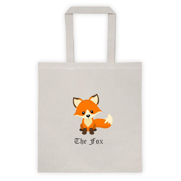 Cute Adorable Red Fox Cotton Tote Bag 6oz