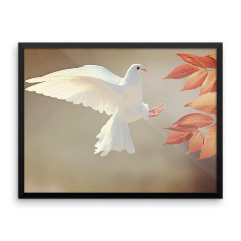 Dove Framed Photo Poster Wall Art Decoration Decor For Bedroom Living Room
