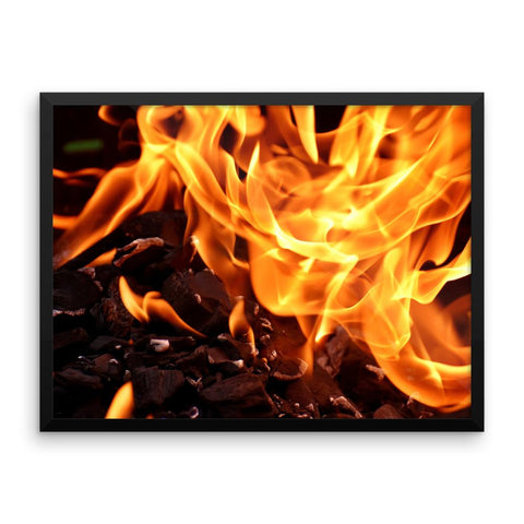 Fire Framed Photo Poster Wall Art Decoration Decor For Bedroom Living Room