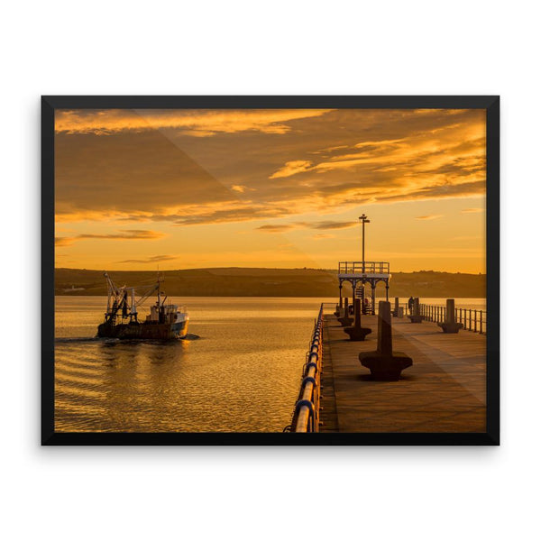 Fishing Harbor SeaSide Framed Photo Poster Wall Art Decoration Decor For Bedroom Living Room