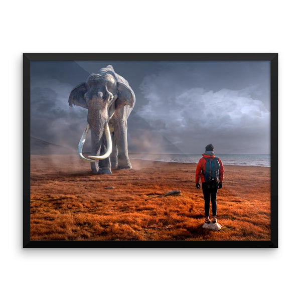 Giant Elephant Wall Art Decoration Decor For Bedroom Living Room