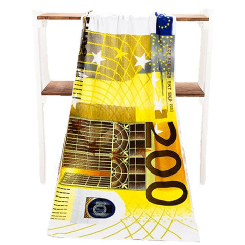 Home - LightningStore 200 Euro Currency Bill Beach Towel - Microfiber Bath Towels For Adults - Toalla Bathroom 70*140 Cm - Personalize Your House With This Elegant Towel