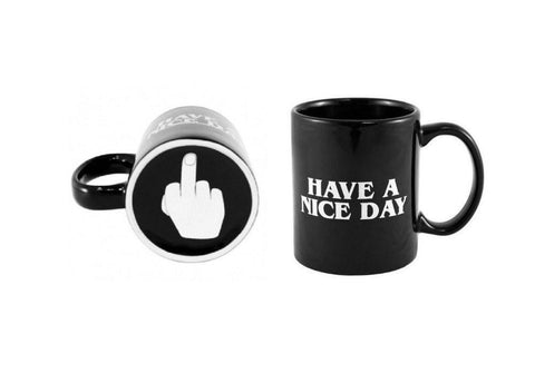 Kitchen - Lightningstore 10oz Novelty Ceramic Middle Finger Coffee Cups Personality Office Gifts Have A Nice Day Mug