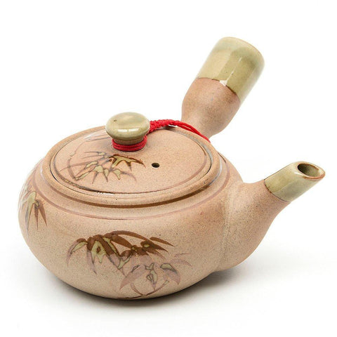 Kitchen - LightningStore Bamboo Flower Pattern Tea Pot Cup Glass Kettle - Made Of Ceramic Clay - A Must Have For Tea Lovers