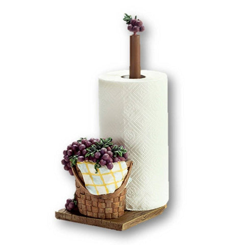 Kitchen - LightningStore Stylish Grape Basket Paper Towel Holder - Vertical Pole - Excellent For Using At Home Or Office
