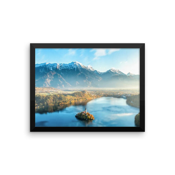 Lake Framed Photo Poster Wall Art Decoration Decor For Bedroom Living Room