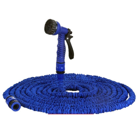 Lawn & Patio - Extensible Magic Flexible Garden Water Hose 100ft For Drip Irrigation Car Watering With Spray Gun Blue As Seen On Tv 2015 Jardin