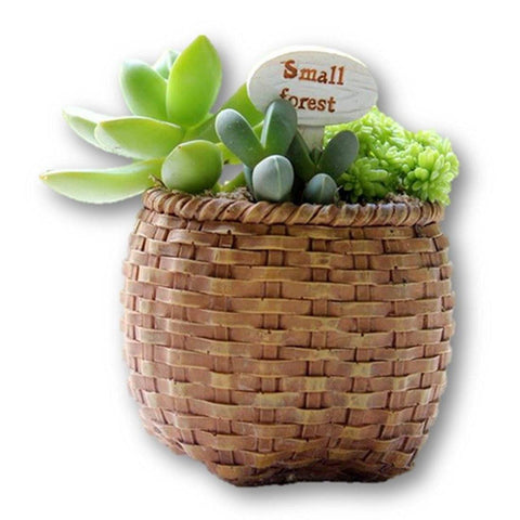 Lawn & Patio - LightningStore Basket Succulent Plants Pot Microlandschaft Personalized Office House Balcony Landscape Pot Creative Decorative Flower Pots