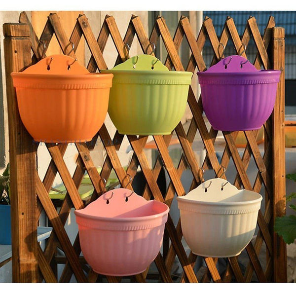 Lawn & Patio - LightningStore Colorful Orange Green Purple White Hanging Flower Pot Succulent Plants Pot Microlandschaft Personalized Office House Balcony Landscape Pot Creative Decorative Flower Pots
