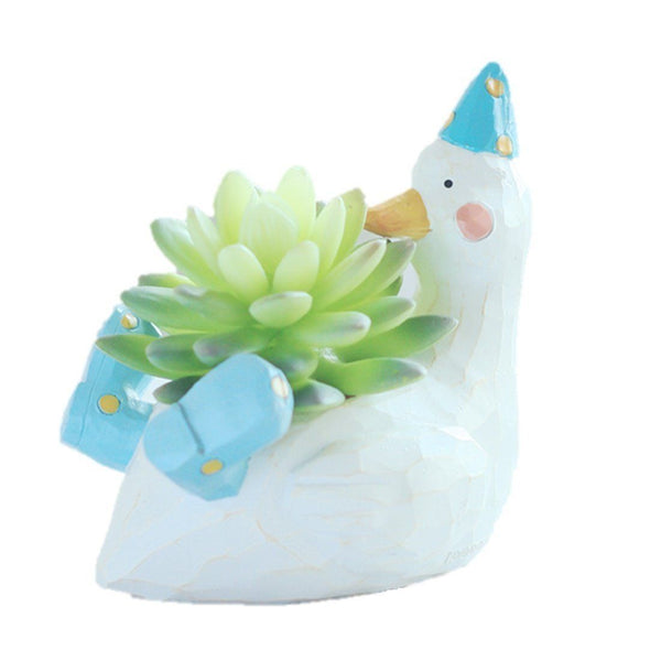 Lawn & Patio - LightningStore Cute White Duck Green Dinosaur Unicorn Alligator Crocodile Blue Elephant Whale Succulent Plants Personalized Office House Balcony Landscape Creative Decorative Flower Pots