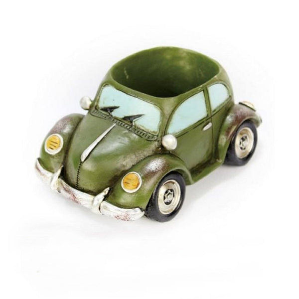 Lawn & Patio - LightningStore Dark Green Car Succulent Plants Pot Microlandschaft Personalized Office House Balcony Landscape Pot Creative Decorative Flower Pots