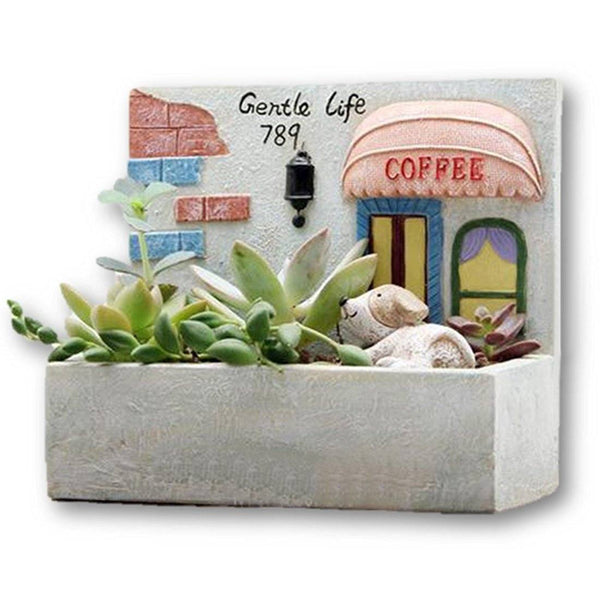 Lawn & Patio - LightningStore Gentle Life Window Succulent Plants Pot Microlandschaft Personalized Office House Balcony Landscape Pot Creative Decorative Flower Pots