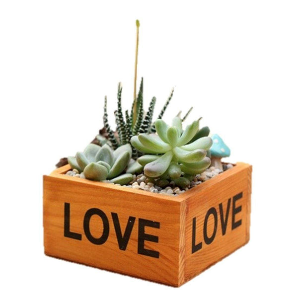 Lawn & Patio - LightningStore Love Flower Pot Succulent Plants Pot Microlandschaft Personalized Office House Balcony Landscape Pot Creative Decorative Flower Pots