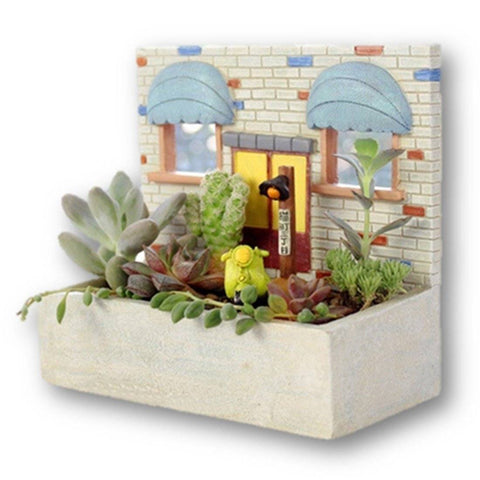 Lawn & Patio - LightningStore Window Succulent Plants Pot Microlandschaft Personalized Office House Balcony Landscape Pot Creative Decorative Flower Pots