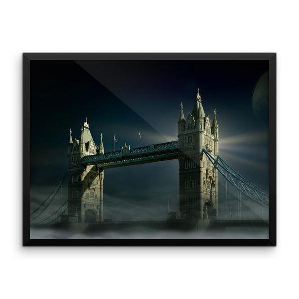 London Bridge Framed Photo Poster Wall Art Decoration Decor For Bedroom Living Room