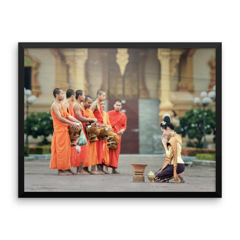 Monk Classic Framed Photo Poster Wall Art Decoration Decor For Bedroom Living Room
