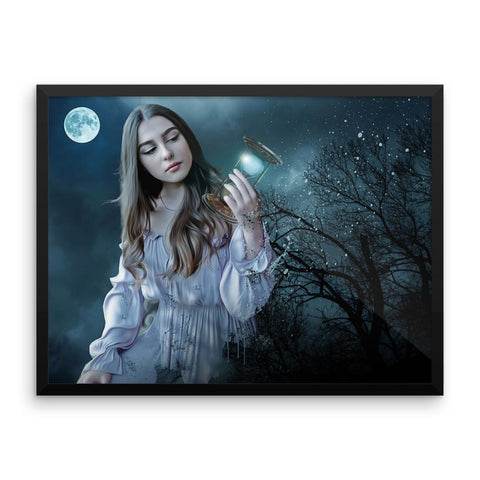 Moon Hourglass Wall Art Decoration Decor For Bedroom Living Room