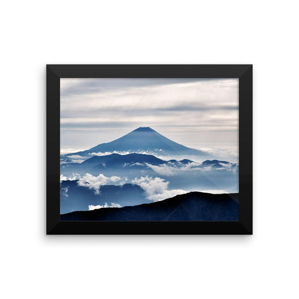 Mountain Peak Clouds Framed Photo Poster Wall Art Decoration Decor For Bedroom Living Room