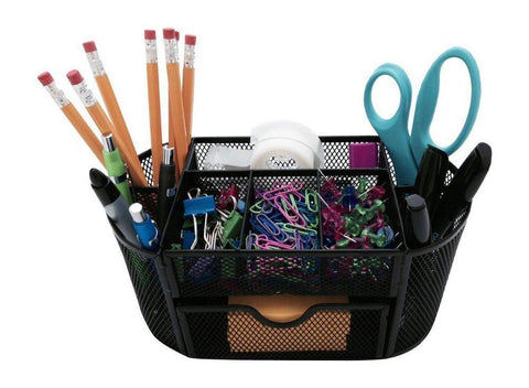 Office Product - Black Blue Green Red Desk Pen Pencil Makeup Brush Organizer - Excellent For Keeping Your Table Organized - Decorate Your Room With This Stylish Accessory