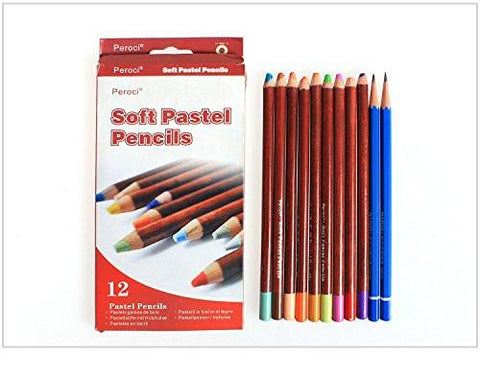 Office Product - LightningStore Peroci Black Wood Soft Pastel Pencil Professional Colored Pencils- Colored Pencils 12 -Colored Pencils 12 Count- Special Price- Colored Pencils In Bulk- Colored Pencils Classpack