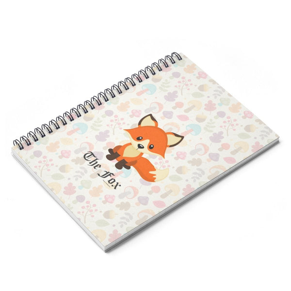 Paper Products - The Cute Adorable Red Fox Spiral Notebook With Ruled Line
