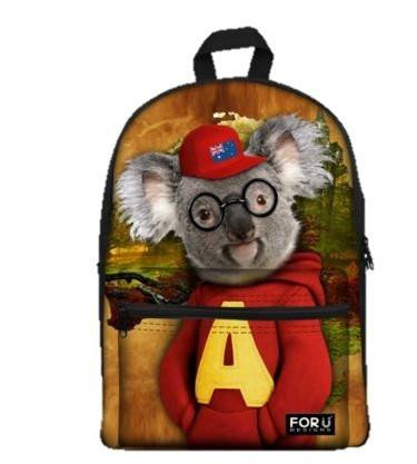 PC Accessory - LightningStore Cute Children Austrailian Koala Bear Wearing Red Sweater Jacket Hat School Bags Kindergarten Girls Boys Kid Backpack Cartoon Toys Fashion Animal Schoolbag CasualBook Mochila Escolar