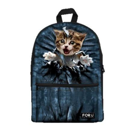 PC Accessory - LightningStore Cute Children Naughty Cat Kitten Bag Tearing School Bags Kindergarten Girls Boys Kid Backpack Cartoon Toys Fashion 3D Animal Schoolbag Casual Kids Shoulder Book Bag Mochila Escolar