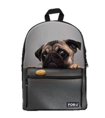 PC Accessory - LightningStore Cute Children Shy Bulldog Puppy School Bags Backpack