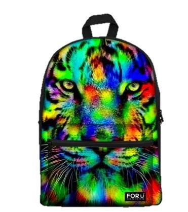 PC Accessory - LightningStore Cute Rainbow Tiger School Bags Kindergarten Girls Boys Kid Backpack Cartoon Toys Fashion 3D Animal Schoolbag Casual Kids Shoulder Book Bag Mochila Escolar