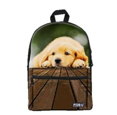 PC Accessory - LightningStore Super Cute Children Golden Retriever School Bags Kindergarten Girls Boys Kid Backpack Cartoon Toys Fashion 3D Animal Schoolbag Casual Kids Shoulder Book Bag Mochila Escolar