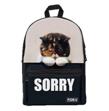 PC Accessory - LightningStore Super Cute Children Sorry Cat School Bags Kindergarten Girls Boys Kid Backpack Cartoon Toys Fashion 3D Animal Schoolbag Casual Kids Shoulder Book Bag Mochila Escolar