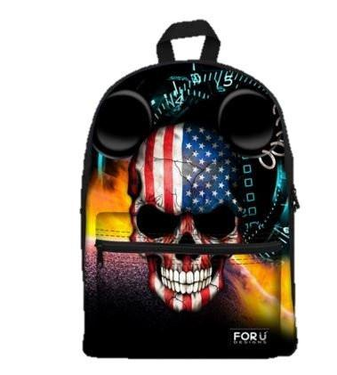 PC Accessory - LightningStore Super United States Skull Bags Backpack Girls Boys Backpack Cartoon Toys Fashion School Bags Shoulder School Book Bag Mochila Escolar