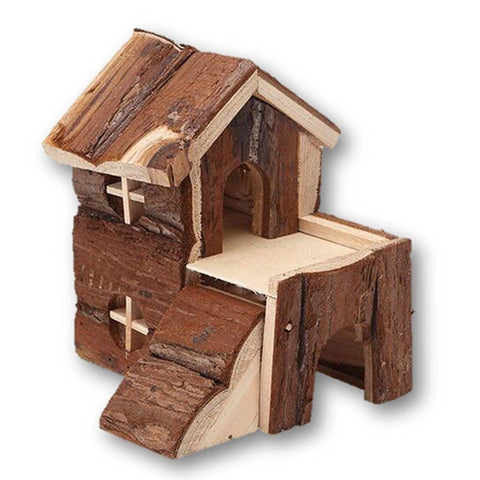 Pet Products - Cute Adorable Brown Church Hamster Rat Guinea Pig Home - Excellent For Putting Inside The Cage - Decorate And Personalize Your Pet's House With This Lovely Accessory - A Must Have For All Pet Lovers