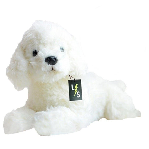 LightningStore Adorable Cute Sleeping Lying White Poodle Stuffed Animal Doll Realistic Looking Plush Toys Plushie Children's Gifts Animals