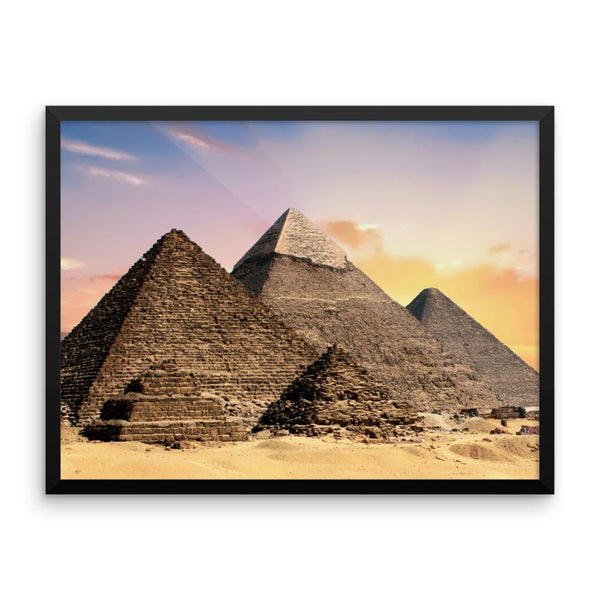 Pyramid Framed Photo Poster Wall Art Decoration Decor For Bedroom Living Room