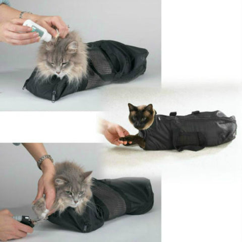 Scratch Resistant Cat Grooming Bag For Nail Trimming, Bathing, And Injections