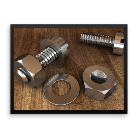 Screws Nuts And Bolts Engineering Framed Photo Poster Wall Art Decoration Decor For Bedroom Living Room