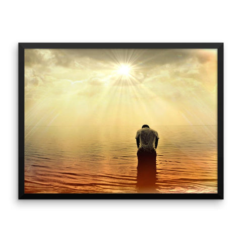 Sunrise Ocean Redemption Framed Photo Poster Wall Art Decoration Decor For Bedroom Living Room