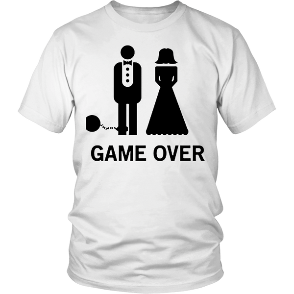 T-shirt - Game Over T-Shirt For Newly Wed Guys