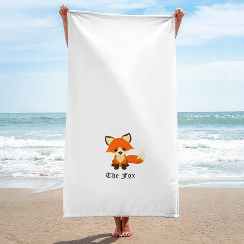 The Cute Adorable Red Fox Towel