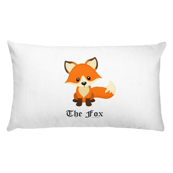 The Cute Adorable Red Fox White Rectangular Pillow