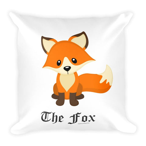 The Cute Adorable Red Fox White Square Pillow