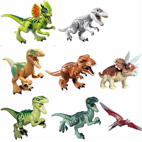 Toy - 8 Pieces Dinosaur Action Figure Toy Set - Excellent Gifts For Children - Velociraptor Raptor Tyrannosaurus Rex T-Rex Triceratops