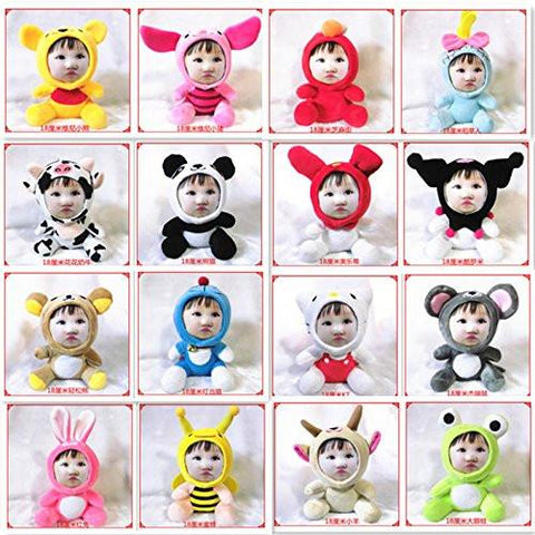 Toy - LightningStore 18cm Cute Customizable Photo Face DIY Monkey Pig Rabbit Snake Tiger Chicken Cow Jaguar Donkey Frog Bee Keychain Doll Realistic Looking Stuffed Animal Plush Toys Plushie Children's Gifts