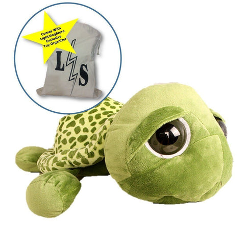 Toy - LightningStore 20cm Super Cute Turtle Tortoise Doll With Big Eyes Stitch Plush Toys Girls Kids Turtle Toy Gift For Children's Birthday