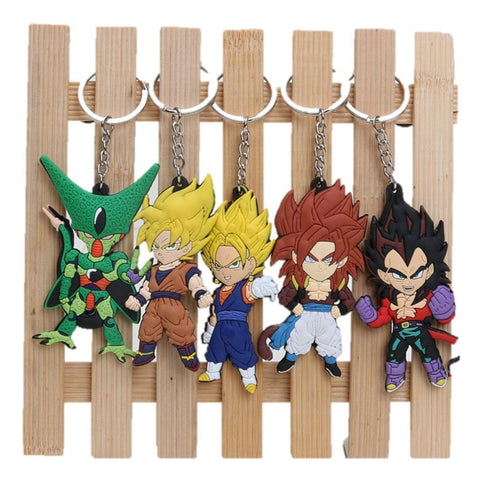Toy - LightningStore 5pcs/set Anime Cartoon Dragon Ball Z Son Goku Vegeta PVC Keychains Pendants Toys Keyring