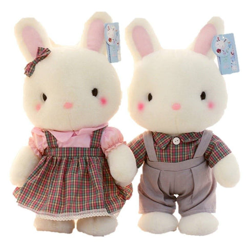 Toy - LightningStore Adorable 2 Pieces Rabbit Bunny Lovers Doll Stuffed Animal Plush Toys Plushie Children's Gifts Animals