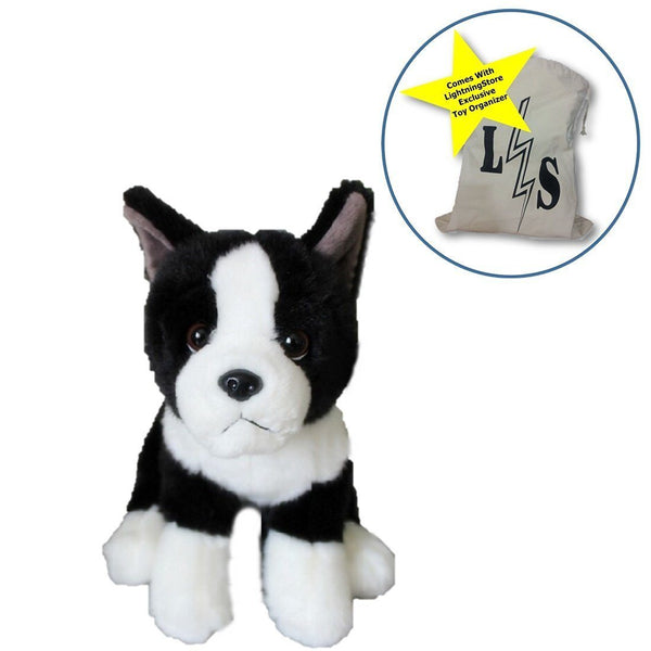 977326559661 Toy - LightningStore Adorable Black And White Shar Pei Dog Puppy Dolls  Realistic Looking Stuffed Animal