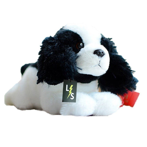 Toy - LightningStore Adorable Cute Baby Black And White Oreo Cookie And Cream Beagle Puppy Doll Realistic Looking Stuffed Animal Plush Toys Plushie Children's Gifts Animals